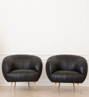 souffle chairs - black