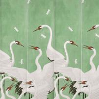 gucci green heron - two